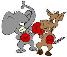 Seçimlerde Demokratlar ile Cumhuriyetçiler karşı karşıya gelecek
