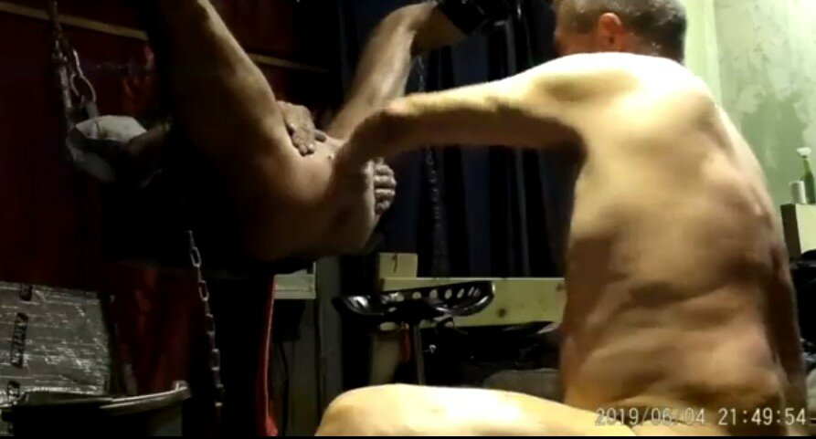 Anal Fisting Gay Man In Sling