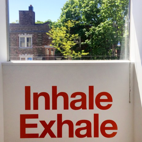 Inhale the good shit, exhale the bad shit