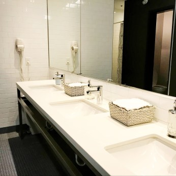 Beautiful and spacious washrooms
