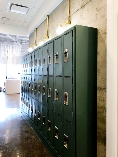 Lockers at the Mission studio