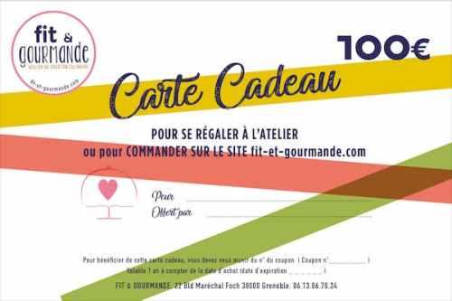 carte cadeau 100€ fit et gourmande