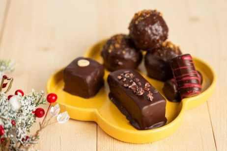 chocolats de noel vegan sans gluten sans lactose fit