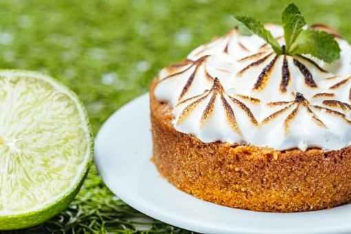 tarte citron et menthe vegan sans lactose