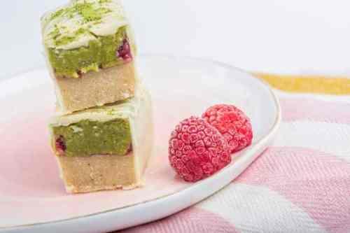 barre paleo matcha coco framboise vegan sans gluten sans lactose