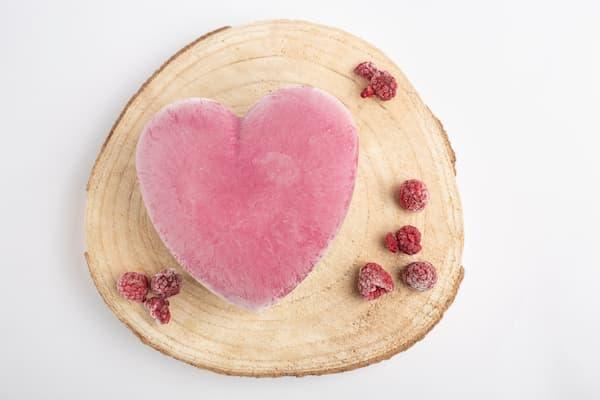cheesecake grand coeur framboise vanille vegan sans gluten