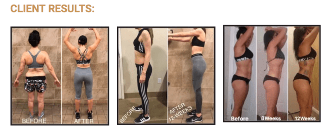 Before/After Images of Exercise program - Fit2fash
