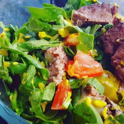 keto salad, spinach salad