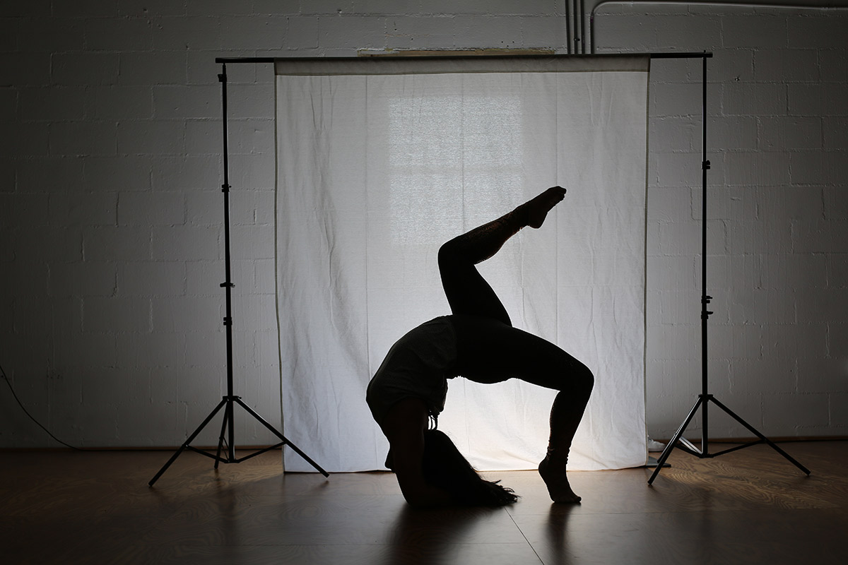 Waterfall Backbend Silhouette Fit and Bendy