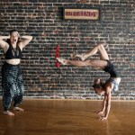 Kristina Nekyia Bow Arrow Contortion Women Studio Brick Wall Wood Floor Screaming Fit and Bendy