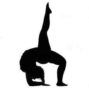 Mobility Silhouette Woman Stretching Yoga Contortion Fit and Bendy