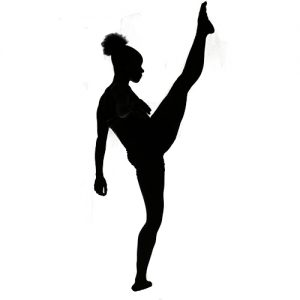 Flexibility Silhouette Woman Fitness Yoga Fit and bendy
