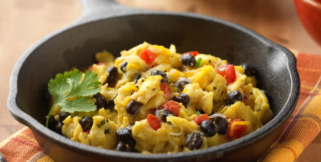 Tony's Black Bean Scramble Eggs