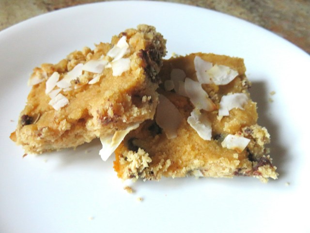 coconut cookie dough bars