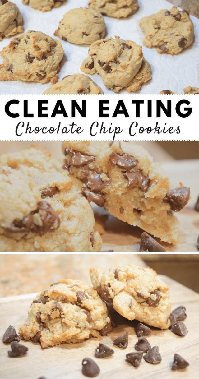 Clean Eating Chocolate Chip Cookies- clean cookies, real ingredients, and they taste amazing!