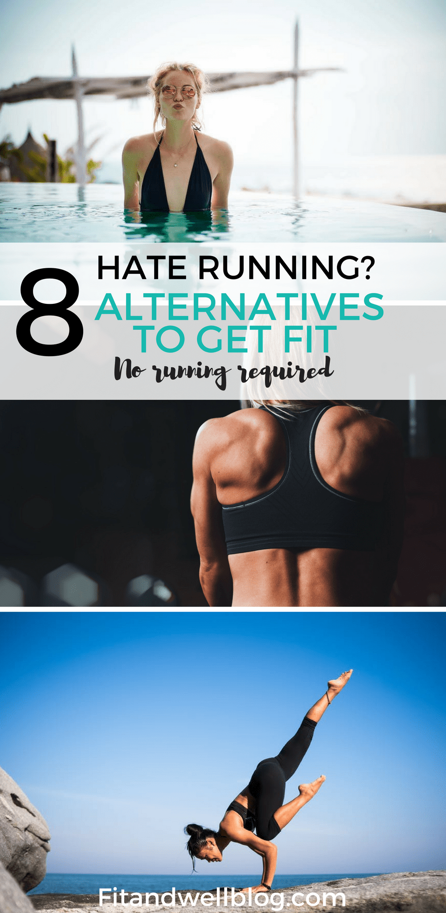 Hate running? 8 fun alternatives to get fit! No running required.