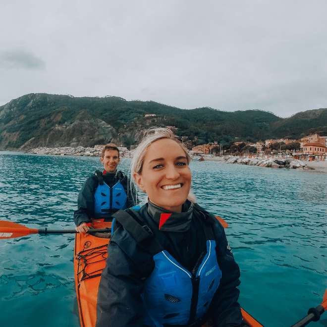 kayaking in cinque terre italy