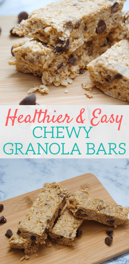 Healthier Chewy Granola bars you can make at home! Kids love them!