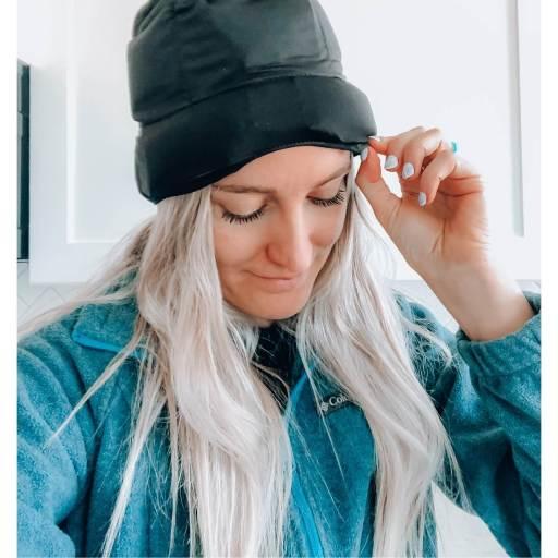 headache hat from aculief