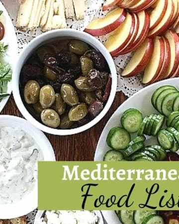 Mediterranean Food List and a One Day Menu on theMediterranean Diet