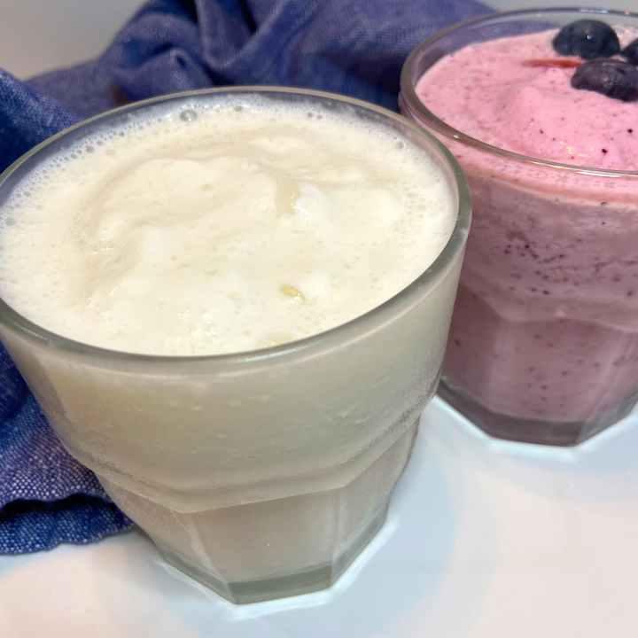 Greek yogurt, coconut milk, and fruit smoothies healthy Mediterranean Breakfasts