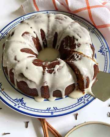 pumpkin cake on a plate