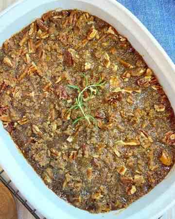 Easy Sweet Potato Casserole with Pecans