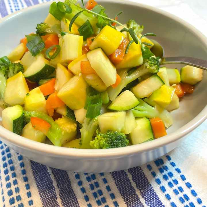 marinated vegetable salad in bowl