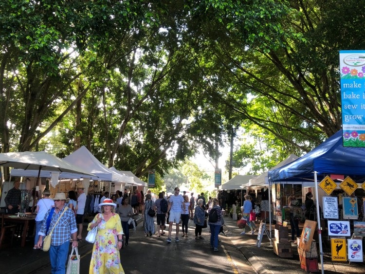, Eumundi Markets – World famous markets on the Sunshine Coast, Queensland., Fit Average Jo