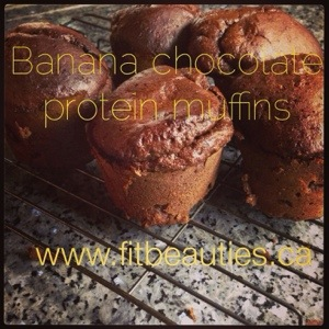 Banana Chocolate Protein Muffins
