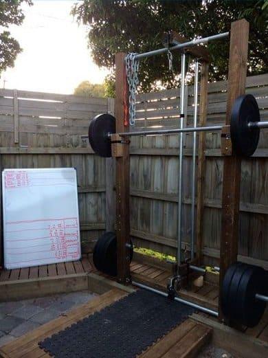 outdoor gym ideas backyard workout
