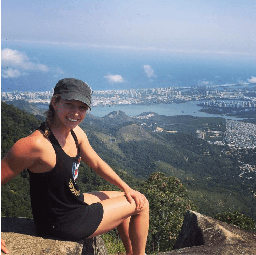 Whitney Small Overlooking Rio Brazil