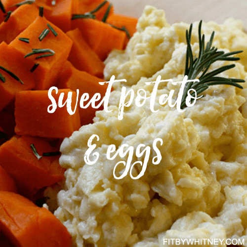 Sweet Potato and Eggs Healthy Recipe