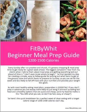 Beginner Meal Prep Cover