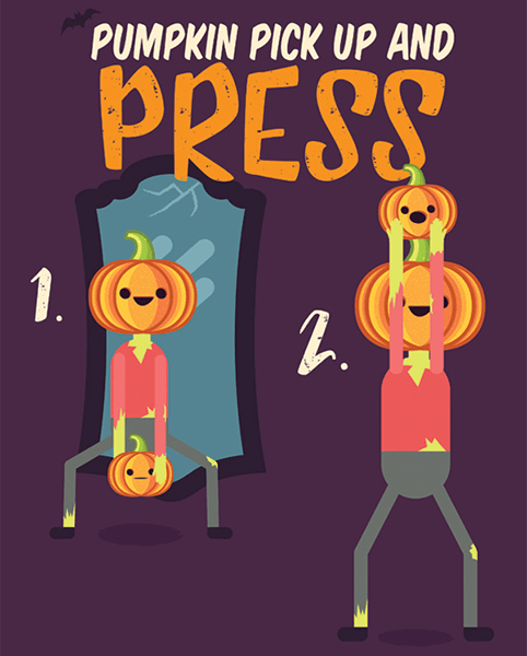 Halloween Workout - Overhead Press Exercise