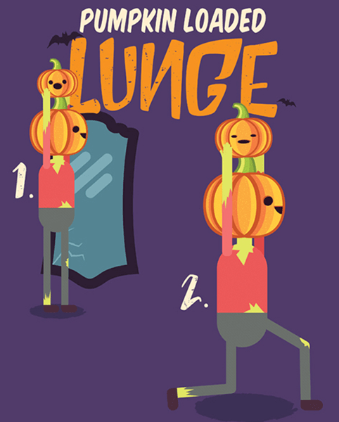 Halloween Workout - Weighted Lunge Exercise