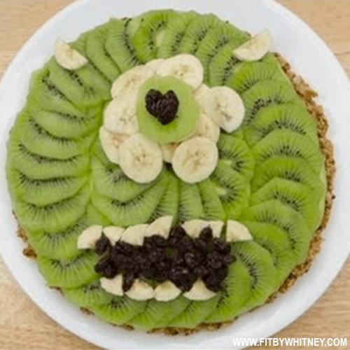 Healthy Halloween Treats - Monster Fruit Pie