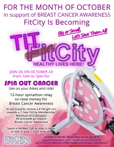 FitCity becomes TitCity for the month of October
