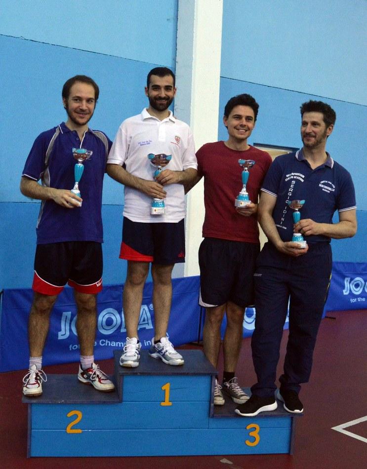 Il podio dell'Open di Muravera (Foto Luciano Saiu)
