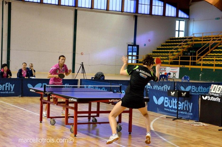 Fatale la sconfitta di Tian Jing contro Dzelinska (Foto Marcello Trois)