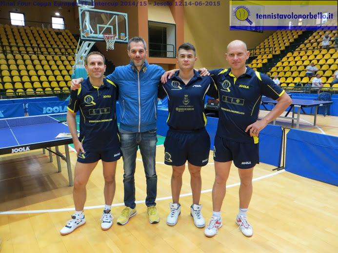 Il presidente Carrucciu con i suoi tre atleti
