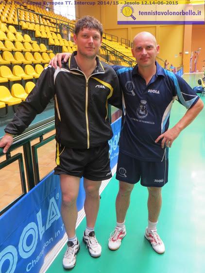 a dx Maxim Kuznetsov col suo ex compagno di squadra Bohumil Kuznetsov