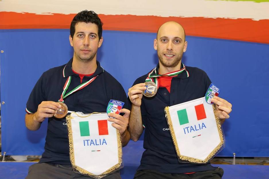 Daniele Sabatino e Luigi Rocca campioni d'Italia nel doppio seconda (Foto Fitet)