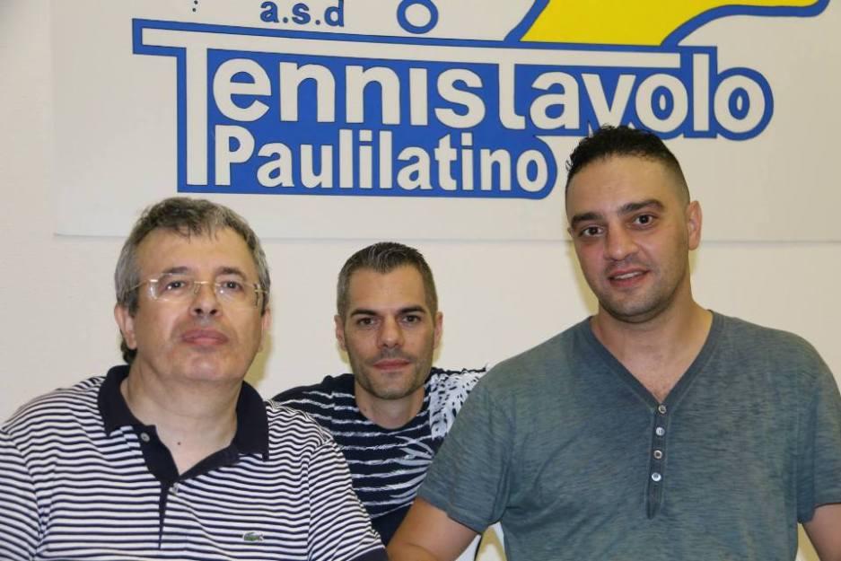 da sx il sindaco di Paulilatino Domenico Gallus, Simone Carrucciu e Massimiliano Mondello