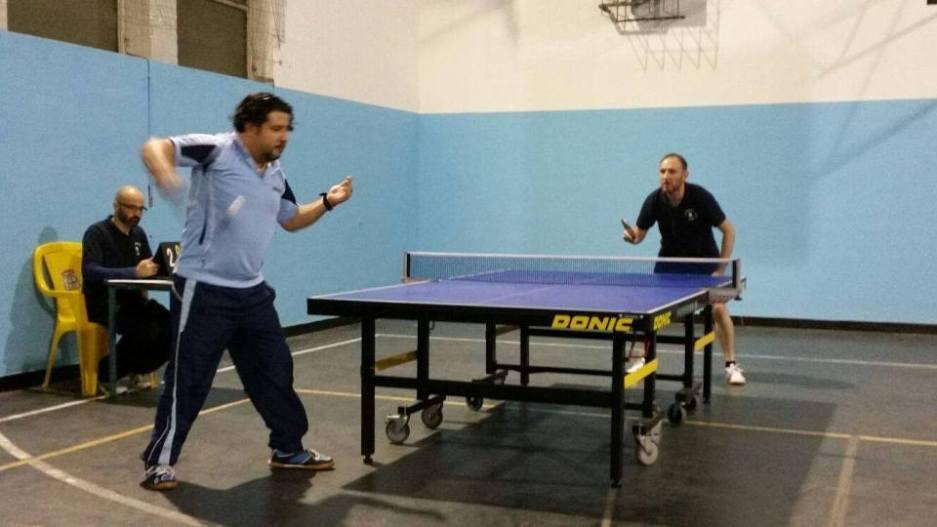 Una fase di gioco tra Tennis Tavolo Olbia e Santa Tecla Nulvi Rossa