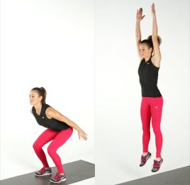 jump squats build muscles with calisthenics