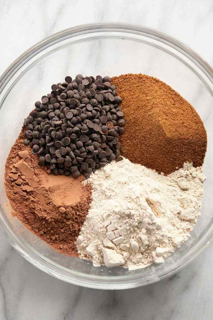 muffin ingredients in bowl