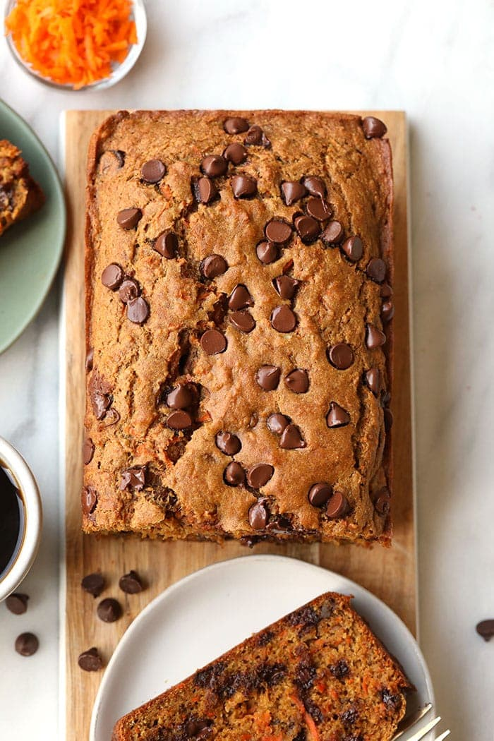 Healthy Chocolate Chip Carrot Bread Fit Foodie Finds