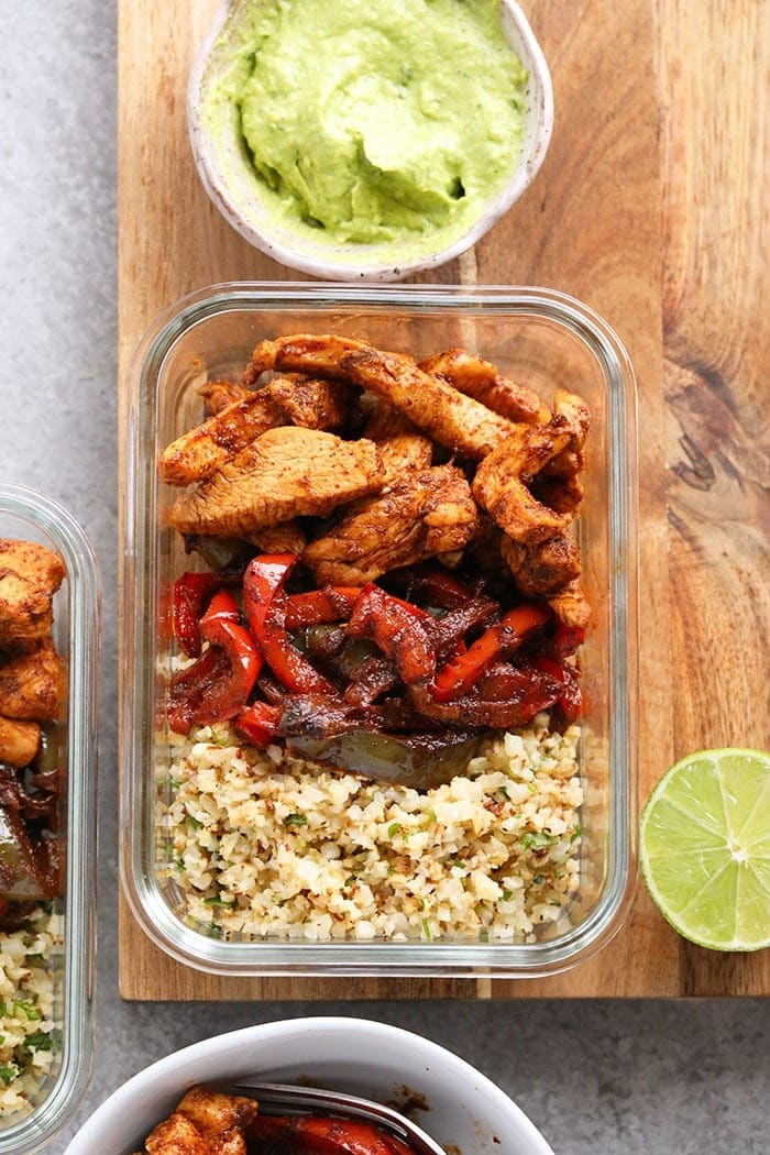 Keto Chicken Fajita Meal Prep Recipe Fit Foodie Finds