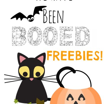 "Free Halloween Neighborhood ""BOO"" or ""Ghosted"" Game Signs"